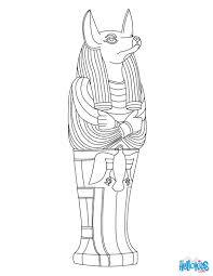 Anubis Egyptian Goddess Gods Coloring Page