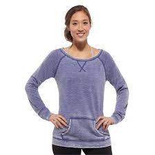 reebok sweatshirt. womens reebok studio burnout crewneck sweatshirt yoga violet uk sizes xs - m new