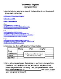 african kingdoms essay web assignment by chuck behm tpt african kingdoms essay web assignment