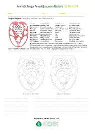 Ayurveda Tongue Chart Ayurveda Elements Tongue Analysis