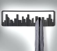 Wall Rack For Coats Wall Hooks For Coats City Skyline Coat Hooks Enlarge Image 15