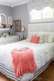 makeover bedrooms. gray-and-coral-bedroom-makeover-martys-musings-2 makeover bedrooms