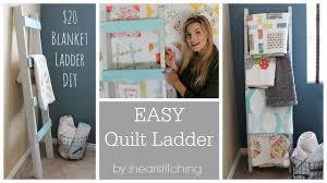 Diy Blanket Ladder Easy Diy Blanket Ladder Tutorial Youtube