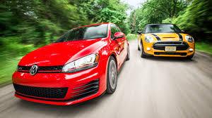Volkswagen GTI vs 2015 Mini Cooper S Comparison Test