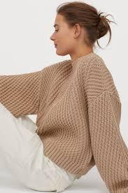 <b>Джемпер структурной</b> вязки - Светло-желтый - Женщины | H&M ...