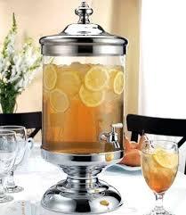 glass dispenser beverage dispenser glass beverage dispenser with metal spigot and stand
