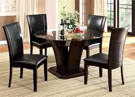 cherrywood dining set cal yet modern manhattan round gl dining table with chairs modern