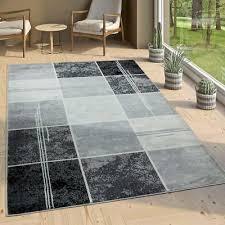 details about designer rug marble look effect carpet black grey coloured rug living room mat