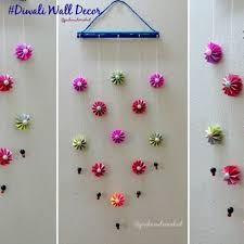 diy wall decoration idea how to make easy paper wall hanging for with how to make wall hangings with paper step by step