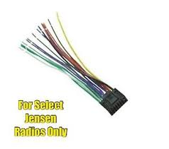 car stereo radio replacement wire harness plug for select jensen Boss Car Stereo Wiring Harness image is loading car stereo radio replacement wire harness plug for