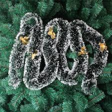 Großhandel Pop 2m Weihnachtsdekoration Bar Tops Ribbon Garland Christbaumschmuck Weiß Dunkelgrün Cane Lametta Party Supplies Dhl Efj411 Von Epopshop