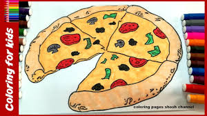 Small Picture pizza coloring pages for kids 2017 fast food coloring learn