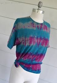 tie dye striped tee diy