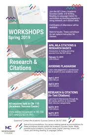 Upcoming Workshops Research And In Text Citations Mla And Apa