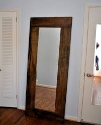 wood mirror frame ideas. Floor Mirror Ideas For Bedroom And Living Room : Awesome Traditional Idea Using Wooden Wood Frame O