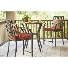 Aluminum Outdoor Dining Table 3pc Garden Treasures Patio Furniture Lunburg Black Aluminum Patio