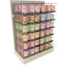 Crisp Display Stand Extraordinary Bartuf Snacking Bays Shelving