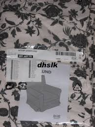 ikea rp jennylund armchair slipcover cover hovby black white fl chair cover