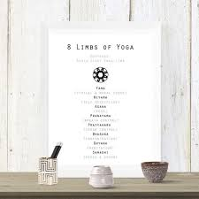 8 Limbs Of Yoga Chart 8 Limbs Of Yoga Printable Instant Download