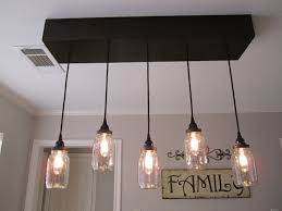 rustic light fixtures chandelier diy remarkable for bathroom home depot dining room mason jar ceiling
