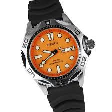 seiko solar s diver mens watch sne109p1 sne109p seiko solar mens s diver orange dial