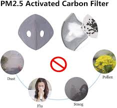 Lumiereholic Dustproof Mask Black Elastic <b>Activated Carbon Riding</b> ...