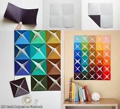 best 25 paper wall decor ideas on diy wall flowers with regard to art and craft decoration ideas