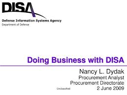 Disa Cio Org Chart Ppt Nancy L Dydak Procurement Analyst Procurement