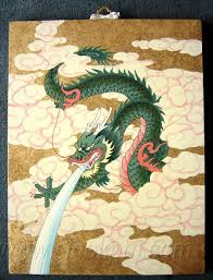 clip art chinese dragon painting