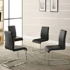 faux leather dining chair black: harston black faux leather dining chair set of