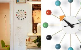 george nelson ball clock in multicolor  hivemoderncom