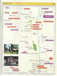 tourist map manali city – himachal pradesh travel guide