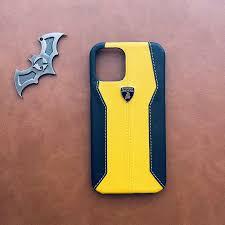 Lamborghini Yellow Leather Case For Iphone 12 / 12 Pro / 12 Pro Max – Envate