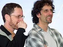 coen brothers ethan and joel at the 2001 cannes film festival the coen brothers