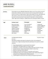 Customer Service Resume Summary Unique Resume Summary For Customer Service Unique Professional Summaries