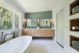 Mid Century Modern in Lincoln Midcentury Bathroom Boston by