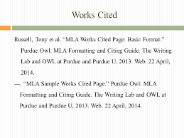Mla Formatting For Works Cited Page The Works Cited Page Mrs Geoffroy English Ii Honors Ppt Download