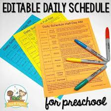 Preschool Daily Schedule And Visual Schedules