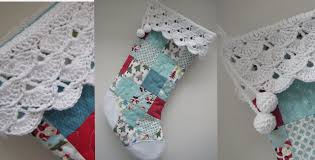 Christmas Stocking Pattern With Cuff Unique New Idea Patchwork Christmas Stocking With A Cuff Quilting Cubby