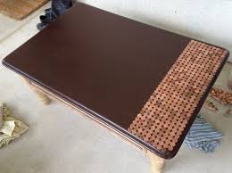 how to make a penny top coffee table 07