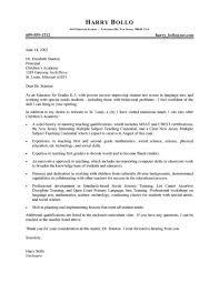 Sample Cover Letter For Teaching Job Application Incep Imagine Ex