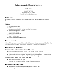 Excellent Database Architect Resume Template Plus Skills And
