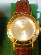 paolo gucci wristwatches paolo gucci diamond face red leather band watch unworn nice