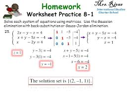 5 international stus charter school mrs rivas international stus charter school worksheet practice 8 1 solve each system of equations using matrices