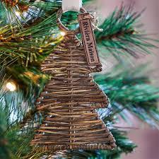 Rustic Rattan Christmas Hanger Tree Christbaumschmuck