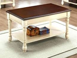 white distressed wood coffee table round and end tables collection painted