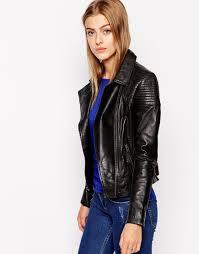 Barneys originals Barneys Gripey Leather Biker Jacket With Quilted ... & Gallery Adamdwight.com