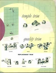 Retro Bathroom Faucets 24 Pages Of Vintage Bathroom Design Ideas From Crane 1949
