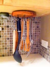 diy rotating cooking utensil storage rack diy kitchen design