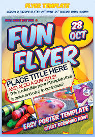 Fun Flyer Template Sevenstyles Graphicriver Fun Flyers Coastal Flyers